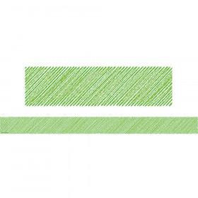 Lime Scribble Straight Border Trim