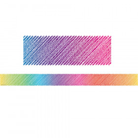 Colorful Scribble Straight Border Trim