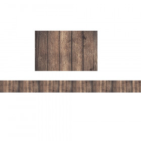 Dark Wood Straight Border Trim