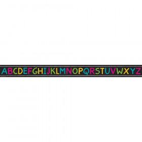 Chalkboard Brights Alphabet Straight Border Trim