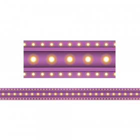 Purple Marquee Straight Border Trim