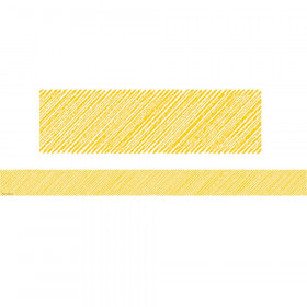 Yellow Scribble Straight Border Trim