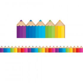 Colored Pencils Die-Cut Border Trim
