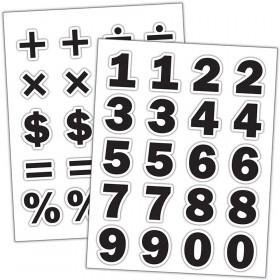 Black Numbers Stickers