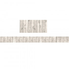 White Wood Straight Border Trim