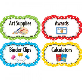 Polka Dots Supply Labels
