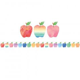 Watercolor Apples Die-Cut Border Trim