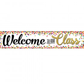 Confetti Welcome Banner