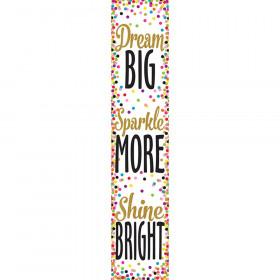 Confetti Dream Big Banner