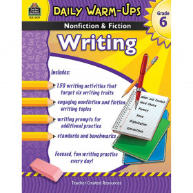 Daily Warm-Ups Nonfiction & Fiction Writing Book, Grade 6