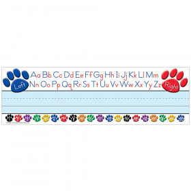 Colorful Paw Prints Left/Right Alphabet Name Plates