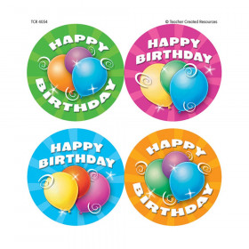 Happy Birthday Wear 'Em Badges, 32/pkg