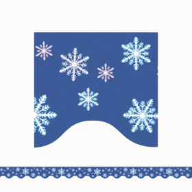 Snowflakes Scalloped Border Trim