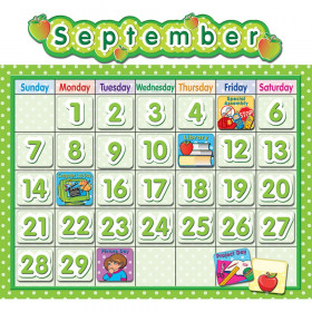 Polka Dot School Calendar Bulletin Board Set