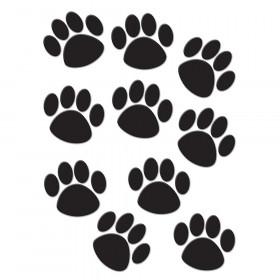 Black Paw Prints Accents