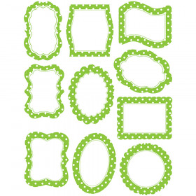 Lime Polka Dots Frames Accents