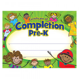 Pre-K Certificate of Completion