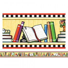 We Love Books Straight Border Trim from Mary Engelbreit, 35 Feet