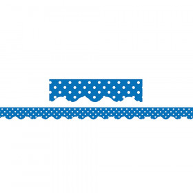 Blue Mini Polka Dots Border Trim