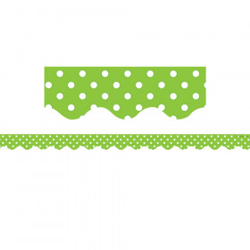 Lime Mini Polka Dots Border Trim