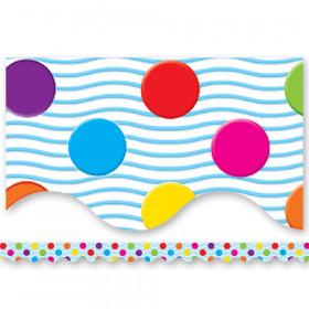 "Mini Polka Dots Border Trim, Multicolor, 2-3/16"" x 35"", 12/pkg"