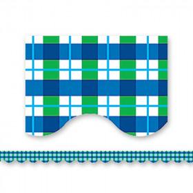 Blue Green Plaid Border Trim