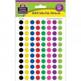 Mini Colorful Circles Valu-Pak Stickers