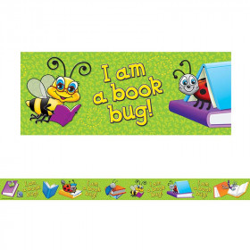 Im A Book Bug Straight Border Trim
