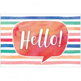Watercolor Hello Postcards