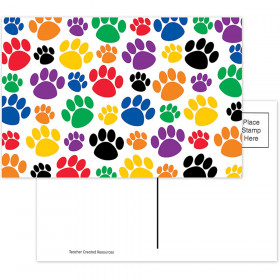 Colorful Paw Prints Postcards, 30/pkg