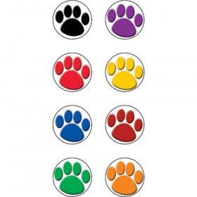 "Colorful Paw Prints Mini Stickers, 3/8""Dia, 528/pkg"
