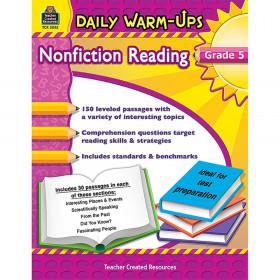 Daily Warm-Ups: Nonfiction Reading Book, Grade 5