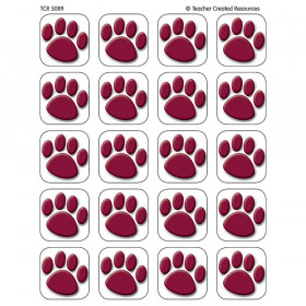 Maroon Paw Prints Stickers