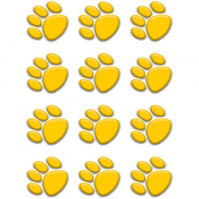 Gold Paw Prints Mini Accents