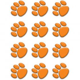 Orange Paw Prints Mini Accents