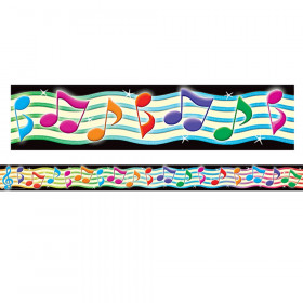Musical Notes Straight Border Trim