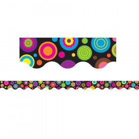 Colorful Circles Border Trim, 35 Feet
