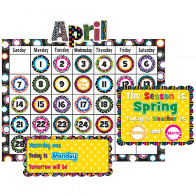 Fancy Circles Calendar Bulletin Board