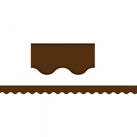 Chocolate Scalloped Border Trim