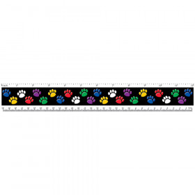 Colorful Paw Prints Ruler