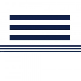 Navy Blue and White Stripes Straight Border Trim