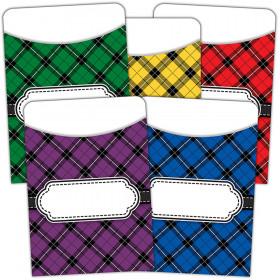Plaid Library Pockets - Multi-Pack