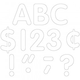 """White Classic Font 4"""" Letters Uppercase Pack, 81 Pieces"""