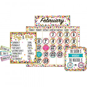 Confetti Calendar Bulletin Board Display