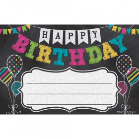 Chalkboard Brights Happy Birthday Awards