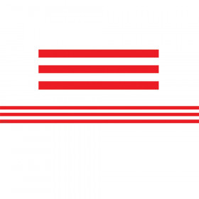 Red and White Stripes Straight Border Trim