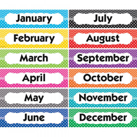 Chevrons and Dots Monthly Headliners