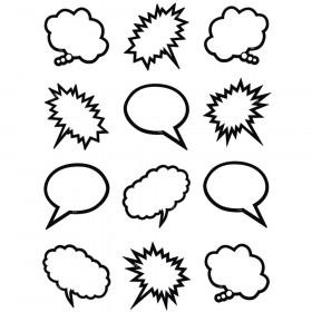 Black & White Speech/Thought Bubbles Mini Accents