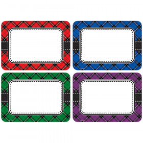 Plaid Name Tags/Labels - Multi-Pack