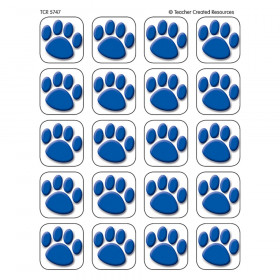 "Blue Paw Prints Stickers, 1"" Square"